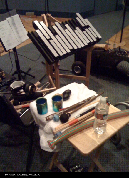 F0854 Percussion Recording Session 2007