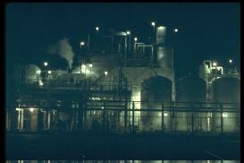 F0876 Sunlaw Powerplant at Night ~ 1990