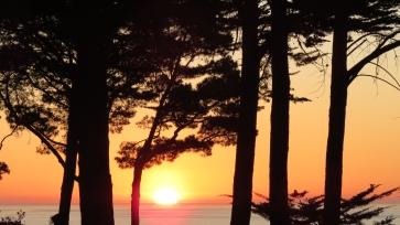 F0878 Sunset sun sinking